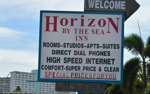 Horizon By The Sea Outside Sign